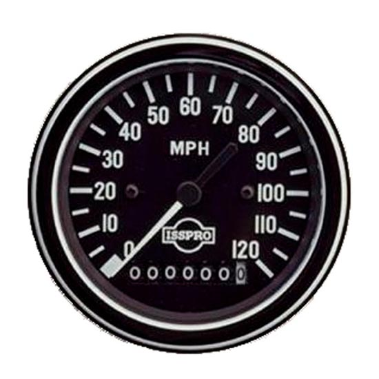Electric Speedometer - 120mph - 3-3/8in - 4 State Trucks