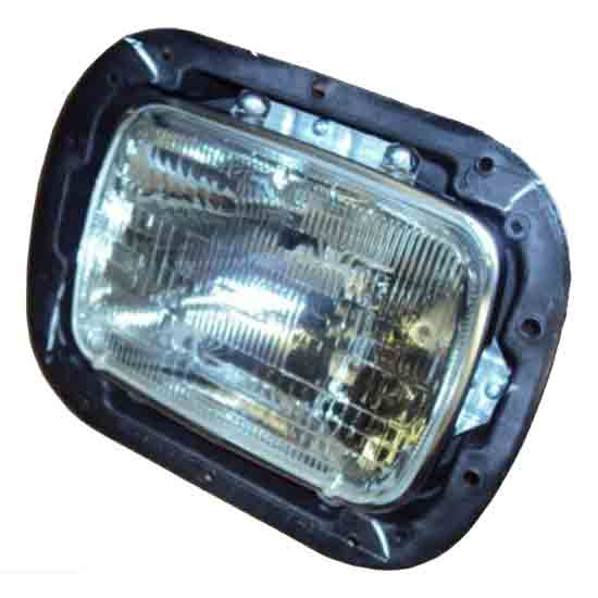 Single Square Headlight Assembly With Bucket 4 State Trucks