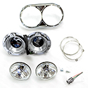 Jones Performance Dual Round Headlight Assembly Fits  Driver Side