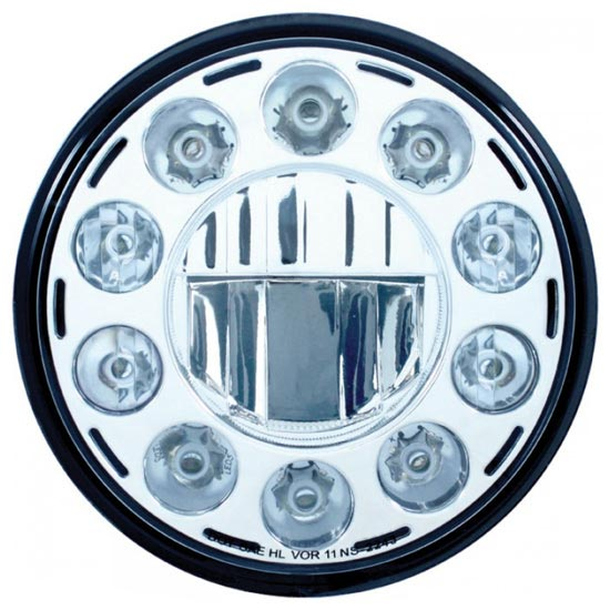 7 In Round 11 Diode High Power Led Crystal Headlight 4