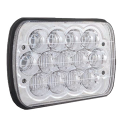 5 X 7 Inch Rectangular LED Headlight With 13 Diodes 1900/1000 Lumen