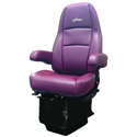 Atlas II DLX Ultra Leather Seat with Dual Armrest - Burgundy