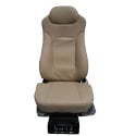 Beige Leather Seat High Back With Standard Base