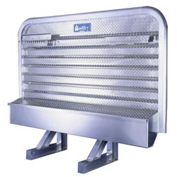 Aluminum Cab Guard w/ Tray & Chain Racks - 68in x 70in