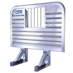 Aluminum Cab Guard w/ Jail Bar Window - 68in x 70in