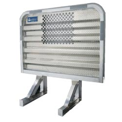 Aluminum Cab Guard w/ Easy View Window - 68in x 70in