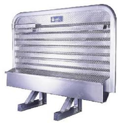 Aluminum Cab Guard w/ Tray & Chain Racks - 68in x 86in