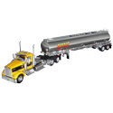 Yellow Die-Cast Kenworth Model Toy Truck with Petroleum Tanker