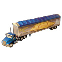 Die-Cast Blue International Model Toy Truck with Dry Van