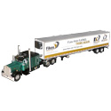 Die-Cast Peterbilt Model Toy Truck with Refrigerated Trailer