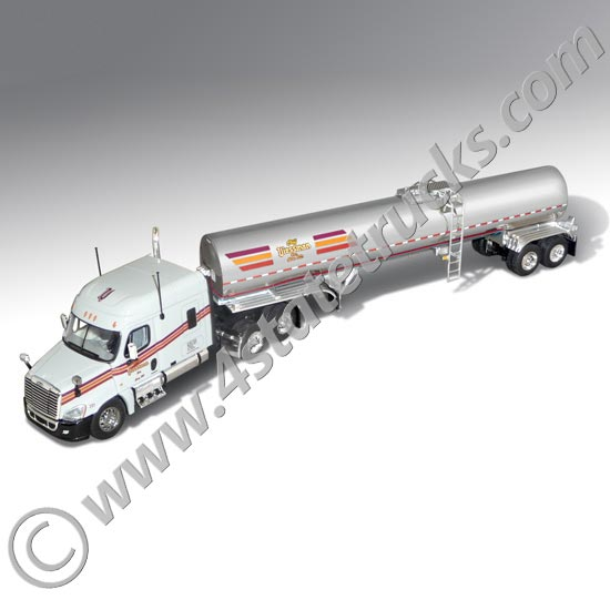 Die cast freightliner model toy truck with sanitary tanker