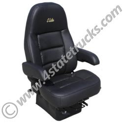 Sears Elite High Back Driver Seat Black Ultraleather 4