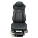 2 Tone Grey Leather Seat Dual Air Lumbar & Bolster Support