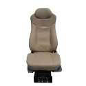 Beige Leather Seat Dual Air Lumbar & Bolster Support