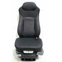 Black Leather Seat Dual Air Lumbar & Bolster Support