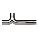 5 Inch Chrome Y-Pipe For Use With Long Drop Elbows - Replaces A04-13974-000