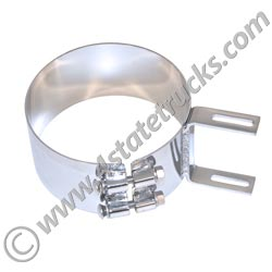 Chrome Stainless Aero Cab Exhaust Mounting Clamp - 7in