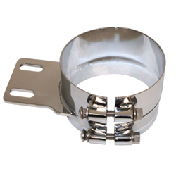 Stainless Steel Mounting Clamp 5 Inch Straight Socket Joint For Peterbilt