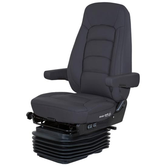 Bostrom Wide Ride II Low Base High Back Seat With Armrests - Black  Ultra-Leather