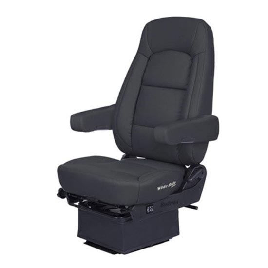 Bostrom Wide Ride Core Low Base High Back Seat With Armrests - Black  Ultra-Leather