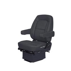 Bostrom Wide Ride Core Low Base Mid-Back Seat With Armrests - Black Ultra-Leather