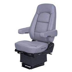 Bostrom Wide Ride Core Standard Base High Back Seat With Armrests - Gray Ultra-Leather