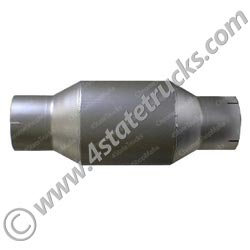 Galvanized Exhaust Muffler 8in x 18in - 5in x 5in