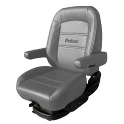 Bostrom Pro Ride Low Base Mid-Back Seat - Gray Ultra-Leather