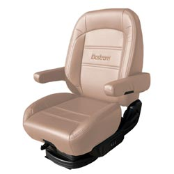 Bostrom Pro Ride Low Base Mid-Back Seat - Tan Ultra-Leather