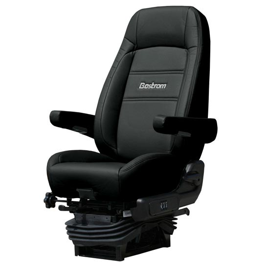 Bostrom Pro Ride Standard Profile Seat With Armrests Black