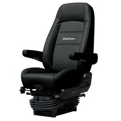 Bostrom Pro Ride Standard Base High Back Seat With Armrests - Black Ultra-Leather