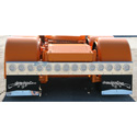 96 Inch Stainless Steel Full Light Bar With 14 - 4 Inch Light Cutouts