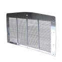 Aluminum Grille Insert With Stainless Steel Surround Fits Kenworth T800 & C500