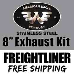 American Eagle 8 X 120 Inch Exhaust Kit With 90 Degree Elbows Fits Freightliner Classic & FLD
