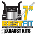Best Fit Exhaust Kits - 7in