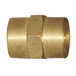 Brass 3/8 Inch Hex Pipe Collar