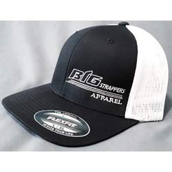 Black & White Hat Flex Fit Mesh Back - Small To Medium