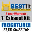 Freightliner FLD/Classic Exhaust Kit 7 Inch