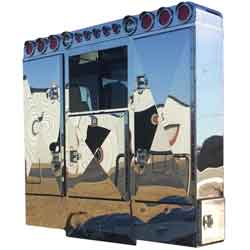 Stainless Steel 80 X 68 Inch Cab Rack With 3 Doors Kit With Light Bar