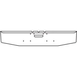 12 Inch Chrome Tapered End Bumper With Tow Hole Fits Freightliner Classic 1990-2010