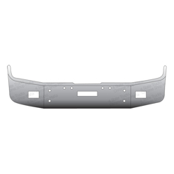 "Freightliner FLD Bumper 12"" Full Wrap With Tow & Fog Light Holes"