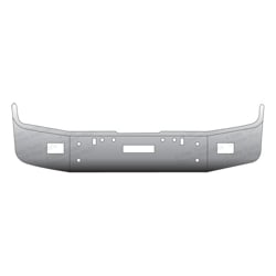 12 Inch Chrome Wrap Around Bumper With Tow & Fog Light Holes Fits Freightliner FLD
