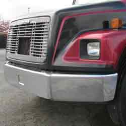 "Freightliner FL70/FL80 Bumper 12"" Full Wrap With Step Hole"