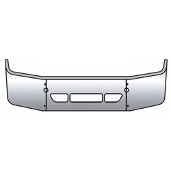 Freightliner Columbia Bumper 18 Inch Full Wrap With Tow & Vent Holes