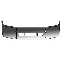 Chrome Steel 18 Inch Bumper Fits Freightliner
