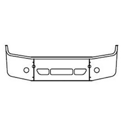 Freightliner Century Bumper 18 Inch Full Wrap With Fog, Step & Vent Holes