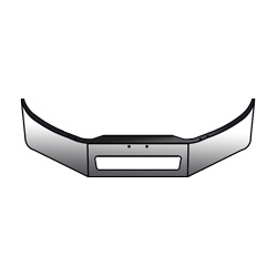 Freightliner M2-106 Chrome Bumper 13 Inch With Vent Cutout 2011-Newer