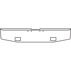 16 Inch Chrome Standard Tapered End Bumper W/ Light Cutouts Fits Freightliner Classic 2000-2002