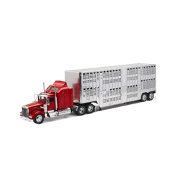Kenworth W-900 With Potbelly Livestock Trailer