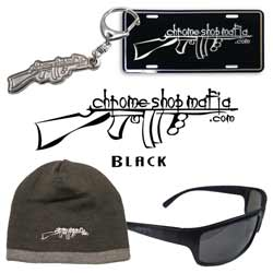 CSM Merch Set Includes Black Decal, Keychain, Beanie, Sunglasses & License Plate Frame